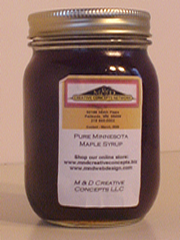 Pint of M & D Creative Concetps LLC Maple Syrup